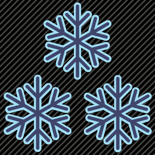 snow, snowflakes, weather icon