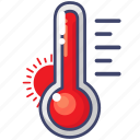 hot, temperature, thermometer icon