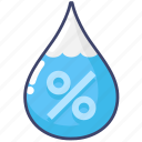 humidity, precipitation, water icon