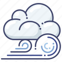 clouds, forecast, wind icon