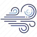 direction, weather, wind icon