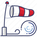 direction, flag, wind icon