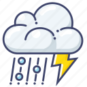 climate, forecast, lightning icon