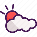 cloud, cloudy, summer, sun, sunshine icon