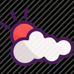 cloud, cloudy, summer, sun, sunshine icon