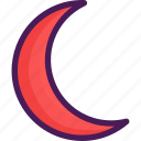 croissant, half, half moon, moon, shape icon