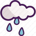 cloud, drops, rain, raining, winter icon