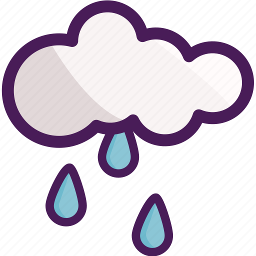 cloud, drops, rain, raining, winter icon