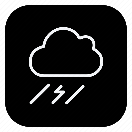 bolt, climate, cloud, cloudy, forecast, lightning, thunderbolt icon