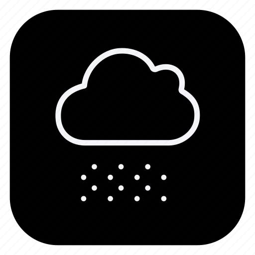 climate, cloud, cloudy, forecast, snow, snowflake, weather icon