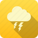 forecast, meteorology, precipitation, thunder cloud, weather icon