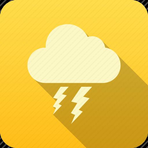 forecast, meteorology, precipitation, thunder cloud, weather icon
