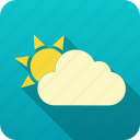 forecast, meteorology, sun, weather icon