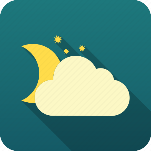 forecast, meteorology, night clouds, weather icon
