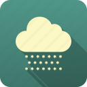 forecast, meteorology, precipitation, snow, weather icon