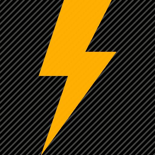 bolt, electricity, energy, flash, lightning, power, thunder icon