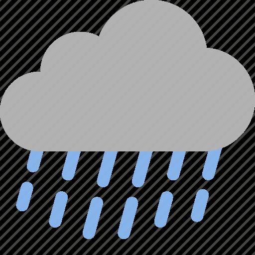 cloud, heavy, precipitation, rain, raining, storm, weather icon