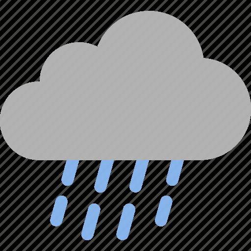 cloud, drizzle, light, precipitation, rain, raining, weather icon