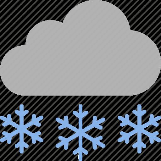 blizzard, heavy, precipitation, snow, snowflakes, snowing, weather icon