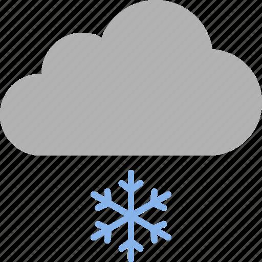 cloud, light, precipitation, snow, snowflake, snowing, weather icon