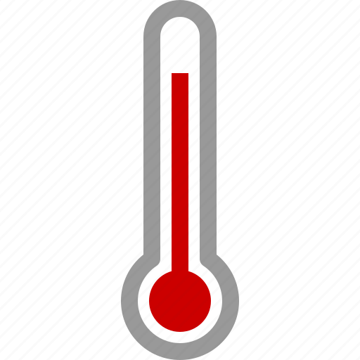 high, hot, measure, temperature, thermometer, warm, weather icon