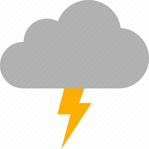 cloud, discharge, lightning, storm, thunder, thunderstorm, weather icon