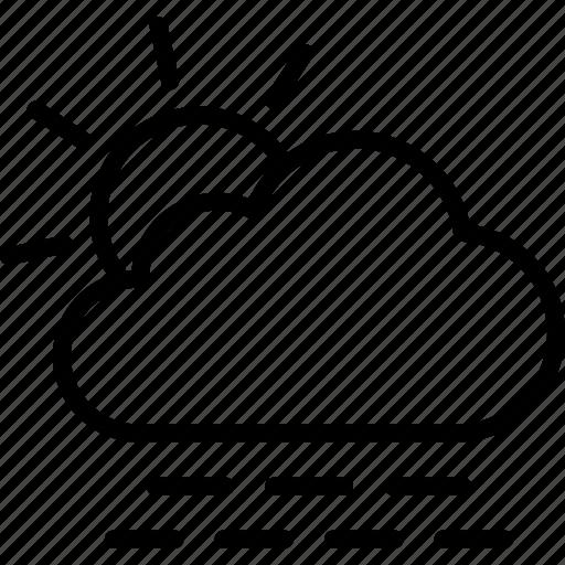 Fog outline. Weather forecast meteorology