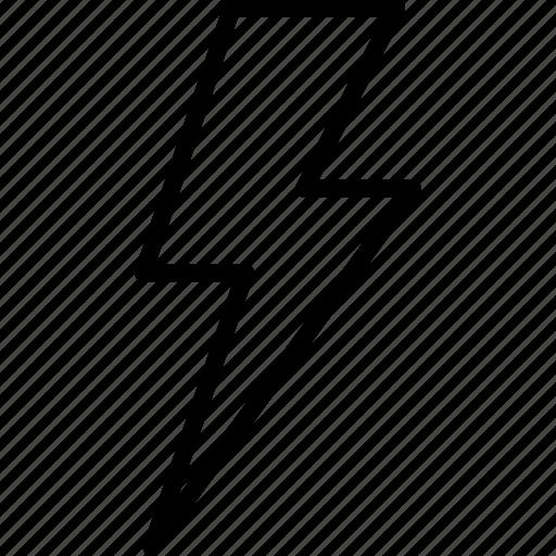 bolt, electricity, flash, lightning, power, thunder, weather icon