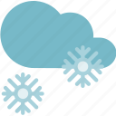cold, forecast, snowflake, snowy, weather icon