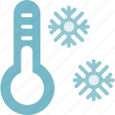cold, forecast, snowflake, thermometer0a, weather, winter icon