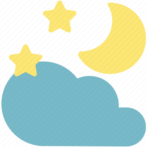 Season, sky, forecast, weather, moon, cloud icon