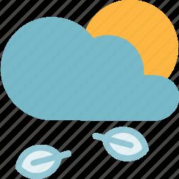 cloud, forecast, season, spring, sun, weather icon