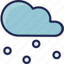 cold, forecast, snow, snowy, weather icon