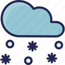 cold, forecast, snow, snowflake, snowy, weather icon