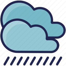 cloud, forecast, rain, water, weather icon
