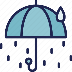 cloud, forecast, rain, rainy, season, water, weather icon