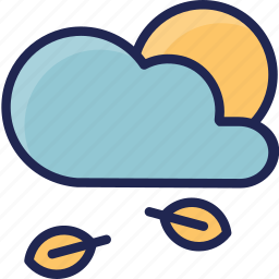 cloud, forecast, season, spring, sun, weather icon
