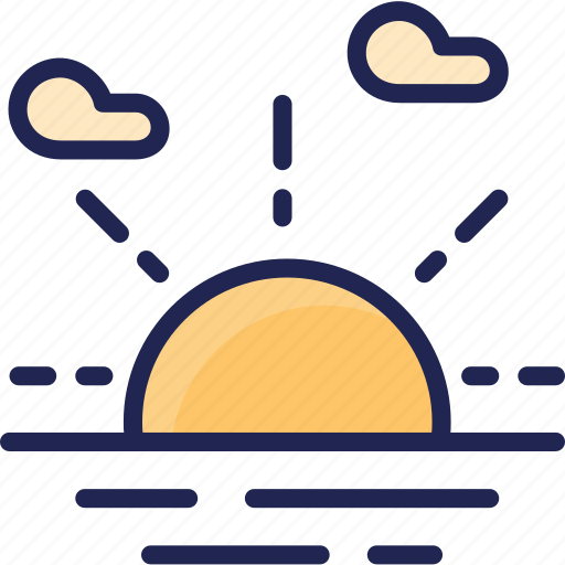 sun, sunrise, weather icon