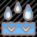 drop, water, down, arrow, direction, navigation, location