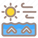 wind, up, water, arrow, direction, navigation, location