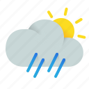 rainfall, rain, afternoon icon