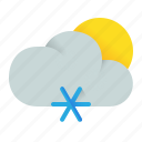 cloud, element, morning, nival, snow, snowy, weather icon