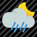 night, rain, rainfall, weather icon