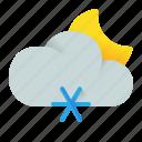 cloud, night, snow, snowy icon