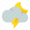 cloud, night, thunder, weather icon