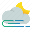 cloud, night, wind, windy icon