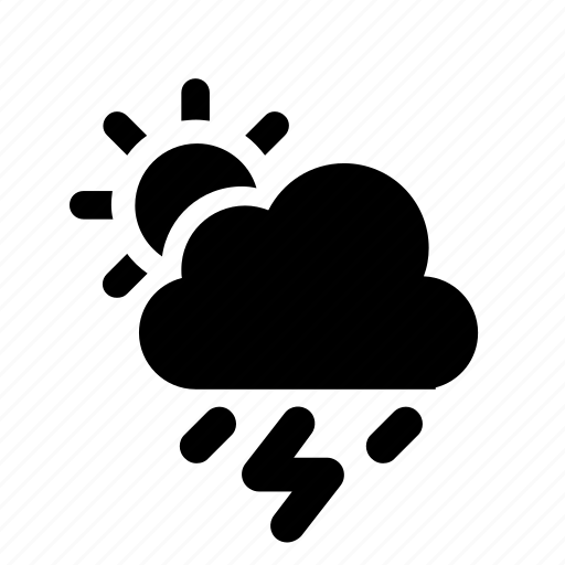 cloud, day, storm icon