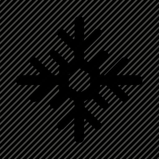christmas, flake, snow icon