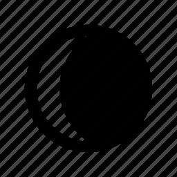 crescent, waning icon
