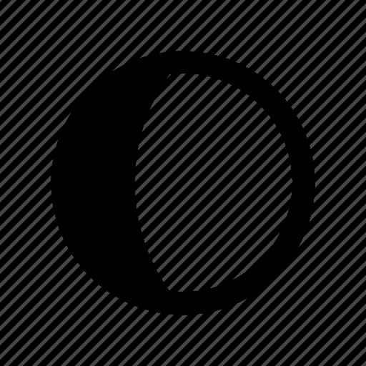 gibbous, waxing icon